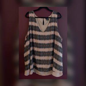 Blush & Black Striped Blouse